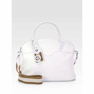 Longchamp 'Au Sultan' White Dome Satchel